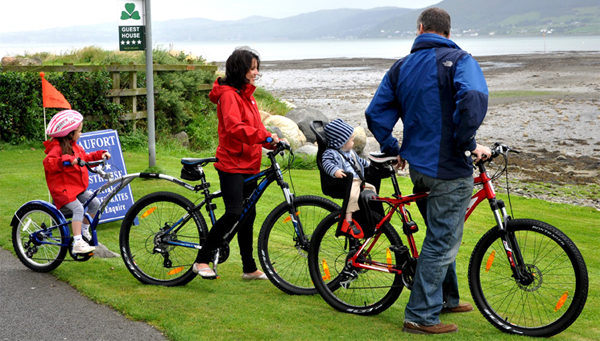 Cycling along Carlingford Lough