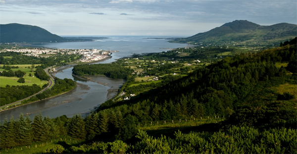 Flagstaff Viewpoint looking down on Carlingford Lough